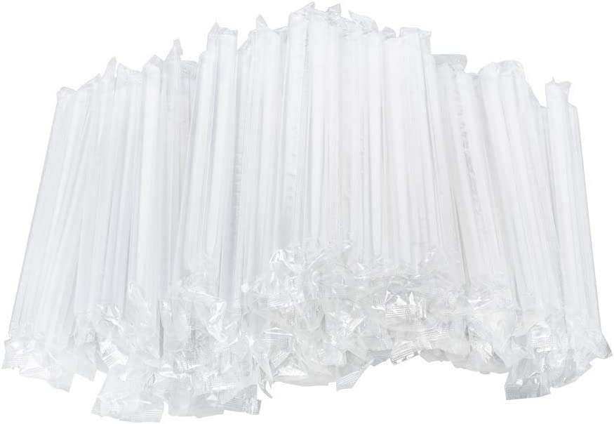 OTOR Plastic Direct stock discount Drinking mart Straws Individually Clear In 9.4 Wrapped