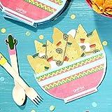 Ginger Ray - Confezione da 16 tovaglioli di carta a forma di nacho, motivo: Viva la Fiesta, novità