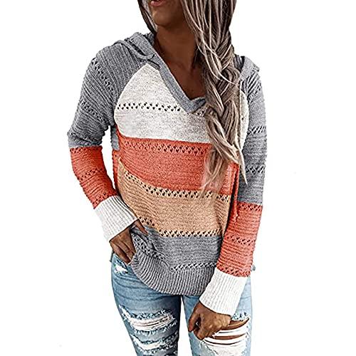 joyvio Damska sukienka sweterkowa z długim rękawem dekolt w serek tunika bluza topy luźny sweter z długimi sweterkami przyczynowy T-shirt sukienka ponadgabarytowe bluzki