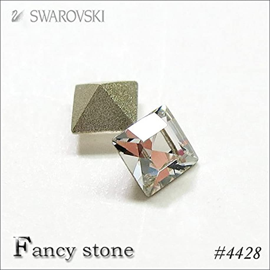 精算根絶する縫い目スワロフスキー ファンシーストーン 正方形(#4428) 4mm 10粒入 (クリスタル)