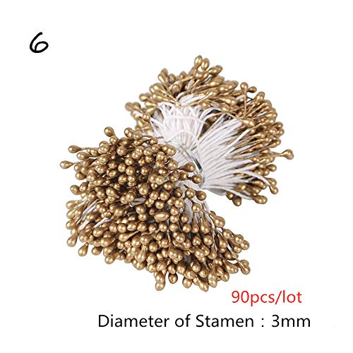 Barley33 8/10/12/90 / 144pcs Gold Mixed Hybrid Blume Kirsche Staubblatt Beeren Bundle DIY Kuchen Weihnachtshochzeit Dekor