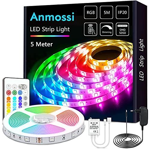 Anmossi LED Strip 5m,RGB LED Streifen...