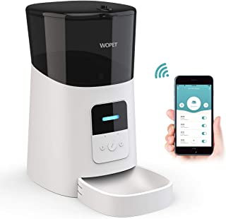 WOPET Automatic Cat Feeder,Wi-Fi Enabled Smart Pet Feeder for Cats and Dogs,App Control for iPhone and Android,15-Meal Pet Dog Feeder with Portion Control, Distribution Alarms Auto Pet Food Dispenser