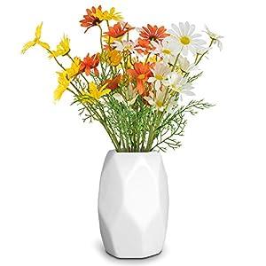 PACETAP Artificial Daisy Flowers, 9 Bundles Realistic Faux Flower Bouquet for Home Table Centerpieces Decoration, Indoor Farmhouse Rustic Decor