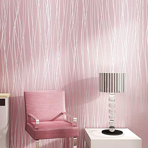 Behang vliesbehang bos woonkamer slaapkamer TV achtergrond 0.53m*10m 7066 pink.