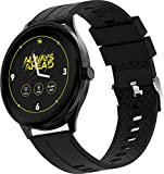 Zebronics Zeb-Fit2220CH Smart Fitness Band, 2.5D Curved Glass Full Touch Display, SpO2, BP & Heart Rate Monitor, IP68 Water Resistant, 8 Sports Mode (Black Rim + Black Strap)