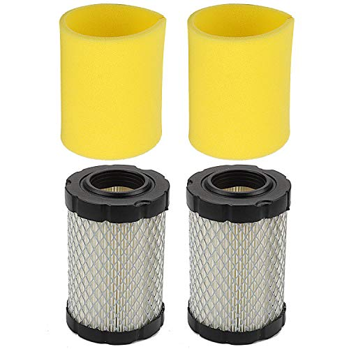 Hilom Pack of 2 796031 Air Filter for Briggs and Stratton 591334 594201 5428 5421 797704 310000 Engine MIU14395 D100 D105 D110 LA145 L108X124 E100 Lawn Tractor