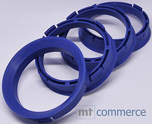 CRK 4X Zentrierringe 66,6 x 57,1 mm blau Felgen Ringe Made in Germany