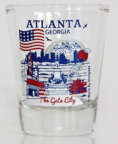 Atlanta Georgia Great American Financial Large special price !! sales sale Glass Collection Cities Shot
