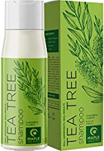 Tea Tree Shampoo for Oily Hair - Deep Cleansing Shampoo for Greasy Hair and Oily Scalp Care - Sulfate Free Clarifying Shampoo for Build Up with Pure Tea Tree Oil for Hair Volume Shine and Dry Scalp