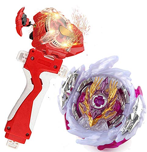 Sparking Launcher Bey Burst Evolution Turbo Blade Battling Tops String Launcher Grip Super King B-168 Booster Rage Longinus.Ds'3A Starter Set Metal Fusion God Bey Gaming Top Spinning Toy Gift for Boys