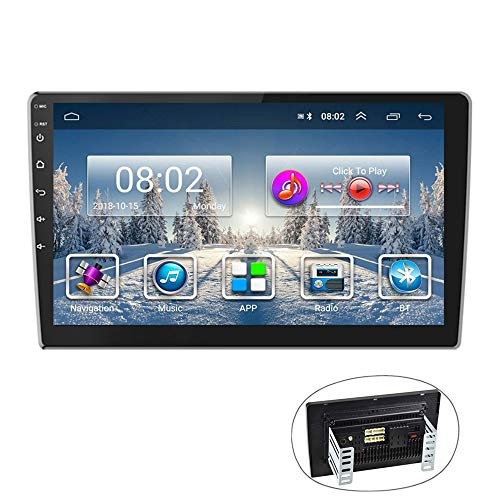 Autoradio Android GPS 9'' Lettore stereo CAMECHO 2 Din Touch Screen Radio FM AM Bluetooth WIFI Cellulare Mirror Link con Dual USB