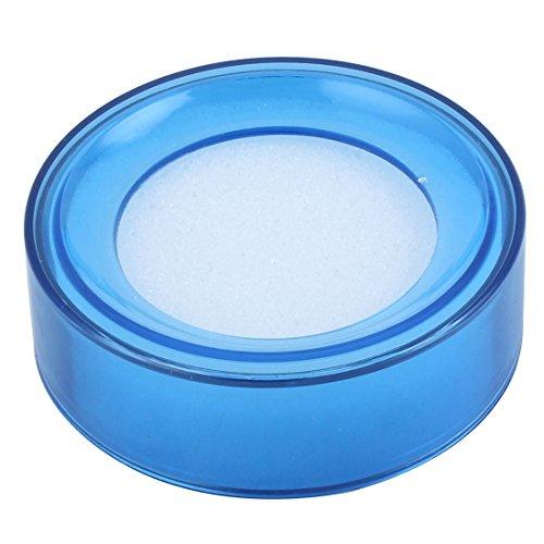 Esponja redonda para mojar el dedo, color azul