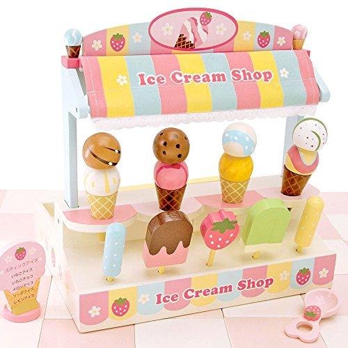 マザーガーデン おままごと 野いちご 香る アイスクリーム ショップ 〔木製 ままごとセット アイス屋さん〕...