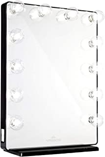 Impressions VanityAuthorized Dealer Hollywood Glow XL 2.0 Vanity Mirror - Upgraded LED Frosted Bulbs - 12 Bulbs - Black