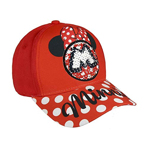 Disney Minnie Mouse Gorra, Rojo, 56 cm para Niños