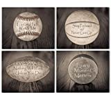 Inspirational Sports Quotes - Set of Four Photos (8x10) Unframed - Makes a Great Gift Under $20 for Room Decor