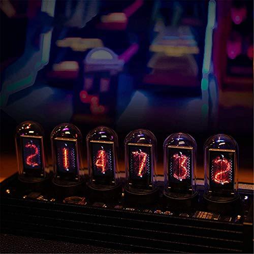 S SMAUTOP Tube Clock,Reloj de Tubo Nixie con Pantalla de Fotos Personalizada para Bricolaje, Calendario, Reloj de Tubo Luminoso LED, más de 20 Modos Disponibles y 1000 Colores Ajustables, USB TypC