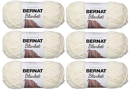 Bernat Blanket Yarn (6-Pack) Super Bulky #6 5.3 oz 108 Yds ea (Vintage White 6PK)
