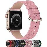 Fullmosa Cinturino per Apple Watch 38 mm/40 mm, Cinturini Pelle Compatibile con Apple Watch Serie SE 6 5 4 3 2 1, Sport, Nike+, Hermès, Edition, Rosa Tenue + Fibbia Dorata