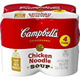 Campbell's Condensed Chicken Noodle Soup, 10.75 Ounce Can with Pop-Top Lid (Pack of 4)