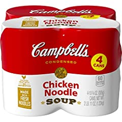 Classic chicken noodle soup crafted with wholesome ingredients: seasoned chicken broth, fresh egg noodles and chicken meat with no antibiotics Only 60 calories per 8 oz. Timeless, soul-warming soup Enjoy a warm, satisfying bowl in under 5 minutes Sto...