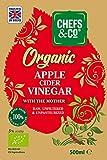CHEFS & CO Vinagre orgánico de sidra de manzana   con Madre del Vinagre   botella de vidrio   Crudo Puro ACV   Sin Refinar   Sin Filtrar   5% de acidez (500ml Vinagre de sidra de manzana)