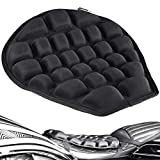 Air Motorcycle Seat Cushion Water Fillable Cooling Down Seat Pad,Pressure Relief Ride Motorcycle Air Cushion Large for Cruiser Touring Saddles by Hommiesafe(Black)