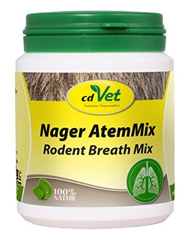 cdVet Naturprodukte Nager AtemMix 40 g  - Kaninchen - Meerschweinchen - Stabilisierung der Schleimhäute  - fördert Immunabwehr+Funktion der Atemwege -Herz-Kreislaufsystem - Bronchialkräuter -