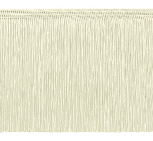 11 Yard Value Pack of 6 Inch Chainette Fringe Trim, Style# CF06 Color: Ivory (Off White) - OW (32.5 Feet / 10M)