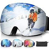 amzdeal Gafas de Esquí, Gafas Esquí Snowboard Doble Capa...