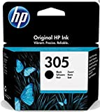 HP 305 3YM61AE Cartuccia Originale, da 120 Pagine, per Stampanti a Getto di Inchiostro HP DeskJet 2700, 2730, 4100, 4134 e HP ENVY 6020, 6022, 6030, 6032, 6420, 6422, 6430, 6432, Nero
