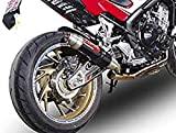 GPR EXHAUST SYSTEM Tubo de escape GPR silenciador para Honda CBR 650 F 2014/18 Terminal de escape homologado Ruido con colector Racing Serie Deeptone Carbon