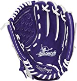 Rawlings Fastpitch Series Softball Glove, 11.5 inch, Basket Web, Right Hand Throw, Purple/White (MODFP115PURW-6/0)