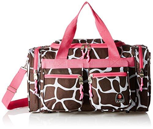 Rockland Duffel Bag, Pink Giraffe, 19-Inch