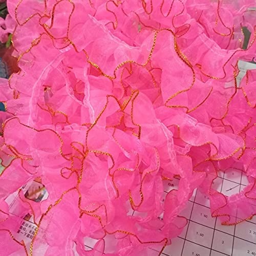 DinoSwap 1M Pleated Tulle Lace Great interest 2cm Fabric Guipure Trim Ranking TOP9 Material