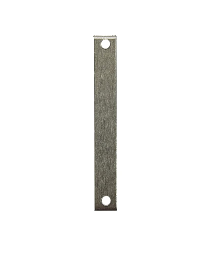 RMP Stamping Blanks, 1/4 Inch x 1 7/8 Inch Rectangle with Two Holes, Aluminum .063