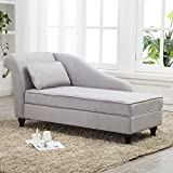 Modern Chaise Lounge Open Fold Spa Sofa Long Lounger for Bedroom, Office, Living...
