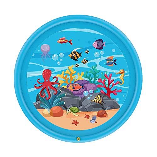 Peuters Toy - Splash Pad, Sprinkler & Splash Speelmat Voor Peuters, Opblaasbare Outdoor Party Sprinkler Pad Waden Pool, Water Speelgoed Voor Zomer Outdoor Garden Beach-170CM