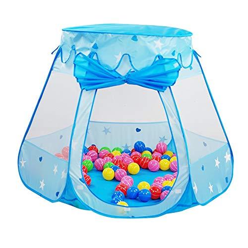 Parc bébé 6-Panel Princesse Play House Ocean Ball Pool avec 100 balles, Maison de Jeu pour bébé Tente Playhouse, Filles d'intérieur Garçons Petits Jouets Château (Couleur : Bleu)