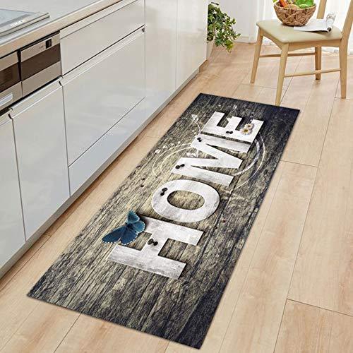 NIBESSER Teppich Läufer Flur Küche Bunt Lange Vintage Kücheläufer Teppichläufer Polyester Meterware Anpassbar Läufer Waschbare rutschfest(Bild 6,60x180cm)
