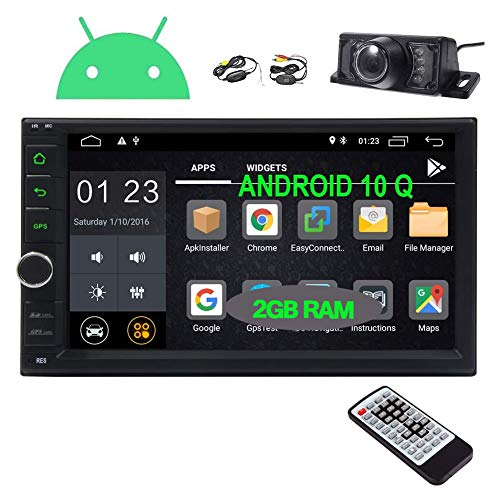 EINCAR Android 10.0 Car Stereo Double Din Car Radio with Bluetooth GPS Navigation System 7 Inch Touch Screen in Dash Head Unit 2 Din Video Audio Player WiFi SWC OBD2 Mirrorlink Wireless Backup Camera