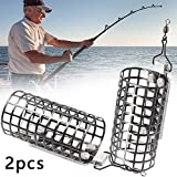 <span class='highlight'><span class='highlight'>Apofly</span></span> 2 Pcs Metal Carp Fishing Pellet Feeder Bait Trap Cage Feeder Basket Holder Fish Bait Lure Cage Carp Fishing Accessories