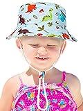 Sombrero de Cubo de Niños Sombrero de Protección Solar Gorra con Patrón Lindo...