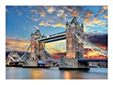 HomeLiner 1000Pcs Puzzles for Adults Teens Jigsaw Puzzles Fun Large Puzzle Game, Challenge Puzzle Gift, London Tower Bridge