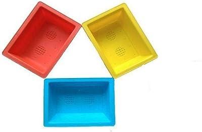 VGreen Garden Store Plastic 9 Inch Bonsai Tray (Multicolour) -Set of 3