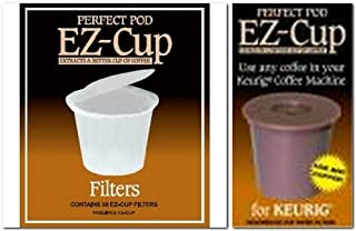 Perfect Pod EZ-Cup & EZ Cup Filters (55 Filters) Combo Pack for Keurig 1.0 Brewers By Perfect Pod