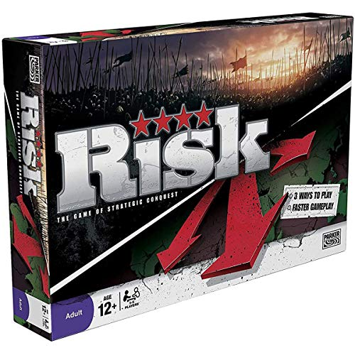 YMFZYM Risk Strategic Conquest Game, klassisches Risk Battle-Brettspiel, Familienpartyspiel, Friends Interactive Toys, Classic Edition