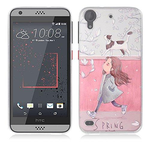 HTC Desire 530 Hülle, Fubaoda 3D Erleichterung Ästhetisch Muster TPU Case Schutzhülle Silikon Case für HTC Desire 530