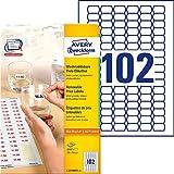 Avery L3410REV-25 - Pack de 25 folios de etiquetas de precio despegables